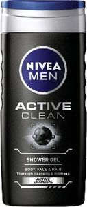 Tuš gel Nivea, men, active clean, 250ml