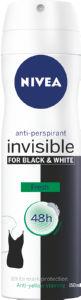 Dezodorant Nivea, B&W, Fresh, sprej, 150ml