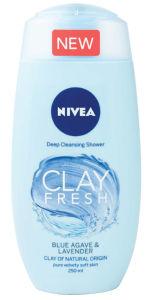 Gel za prhanje Nivea, žen., Clay bl.ag.&lavender, 250ml