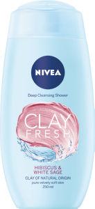 Tuš gel Nivea, žen., Clay hibis.&wh.sage, 250ml