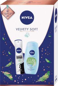Darilni set Nivea, Velvety soft