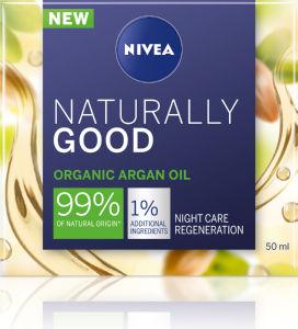 Krema za obraz Nivea naturally good nočna, 50ml