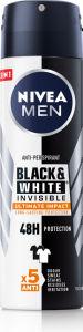 Dezodorant Nivea moški black&white, Ultimate impact 150ml