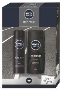 Darilni set Nivea, moški, Deep Fresh