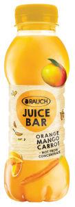Sok Rauch Juice bar, pom., mango, korenček, 0,33l