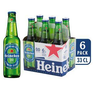 Pivo Heineken brez alk.steklenica, 6 x 0,33 l
