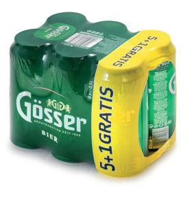 Pivo Gösser, 5+1, alk.5,2 vol%, 6×0,5l