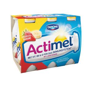 Jogurtov napitek Actimel, jagoda in banana, 6x100g