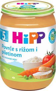 Kašica Hipp, Bio, zelenjava, piščanec, riž, 190g