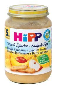Kašica Hipp, Bio, jabolko, banana, keks, 190g