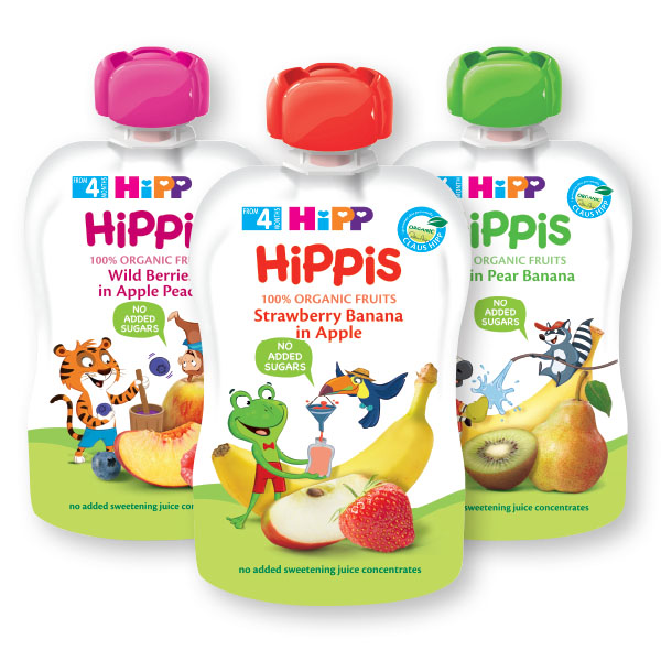 Blazinica Bio Hipp, jagoda, banana, jabolko, 100g