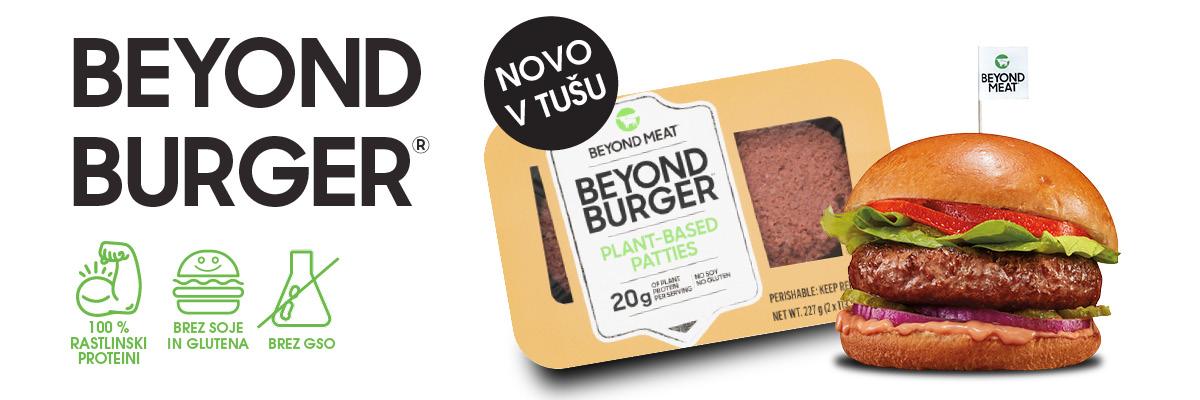 Samo v Tušu sedaj najdete hit leta - Beyond Burger®, 100 % rastlinski burger iz rastlinskih proteinov