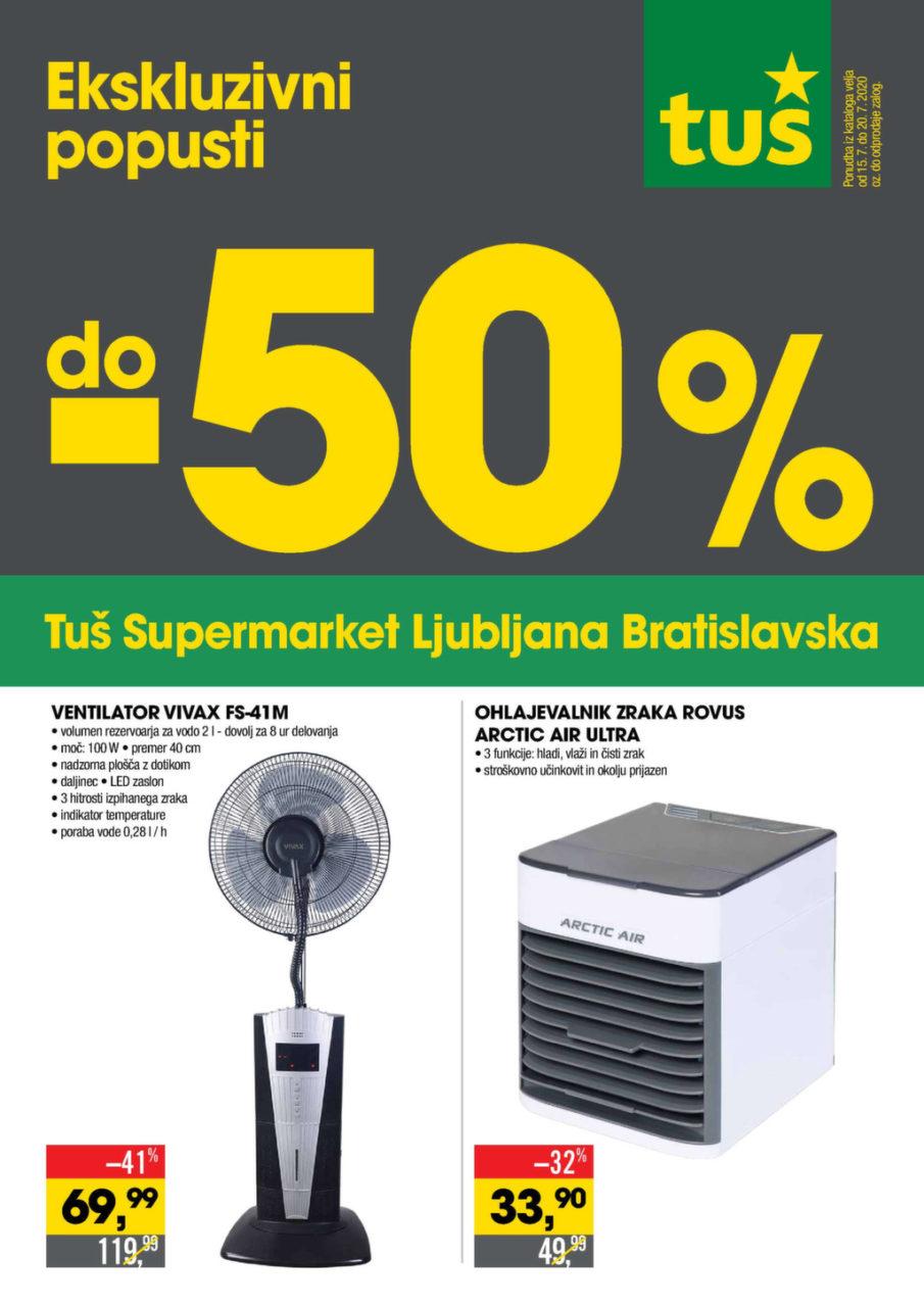 Akcijski katalog Tuš supermarket Ljubljana Bratislavska