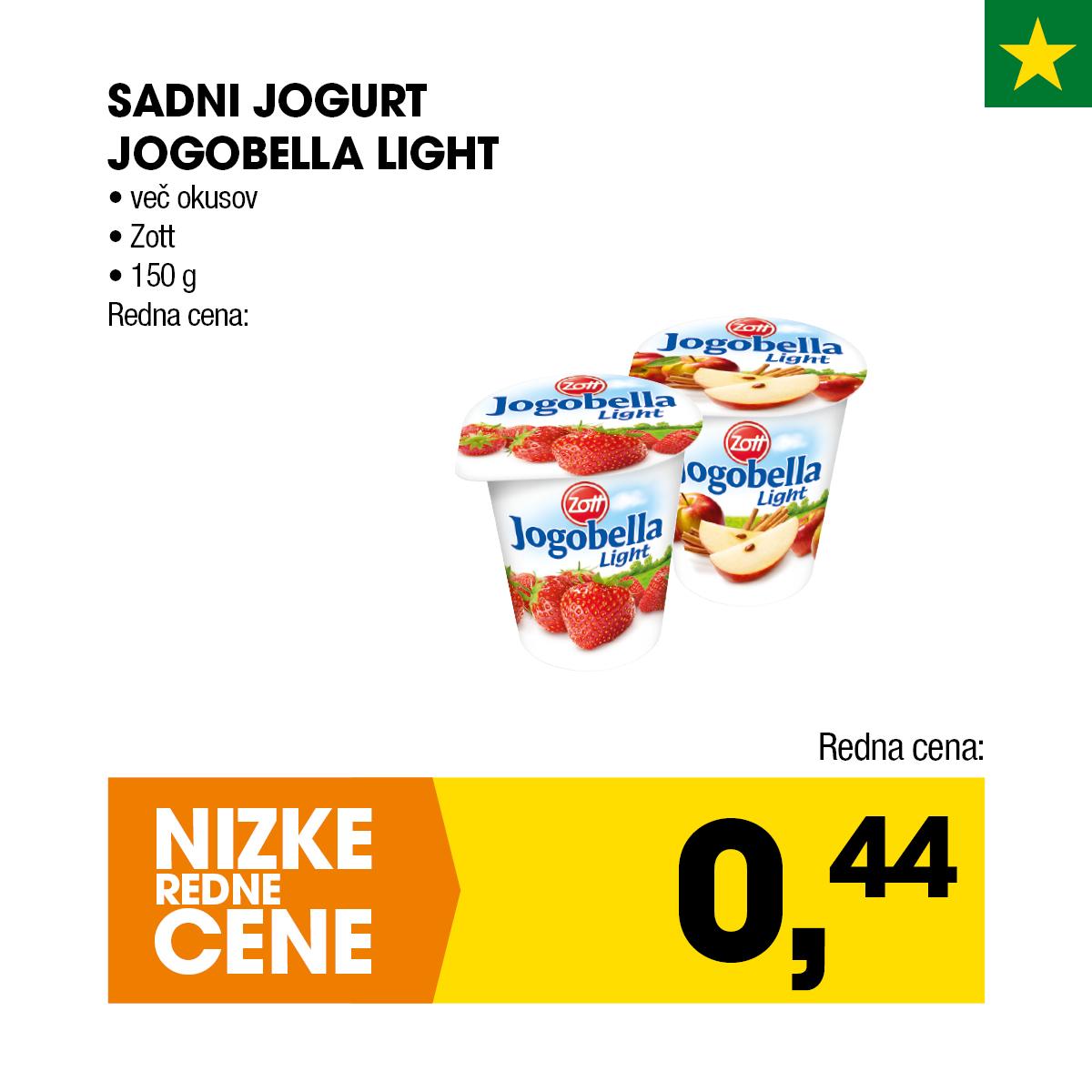 Nizke cene - Sadni jogurt Jogobella Light