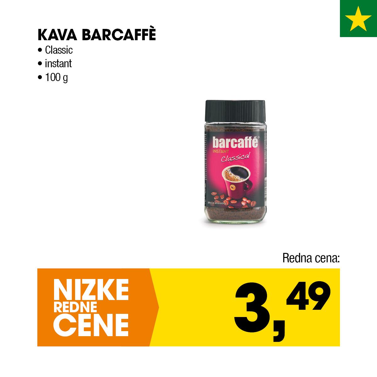 Nizke cene - Kava Barcaffe