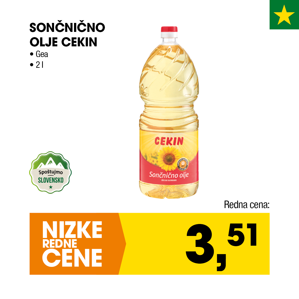 Nizke cene - Sončnično olje Cekin