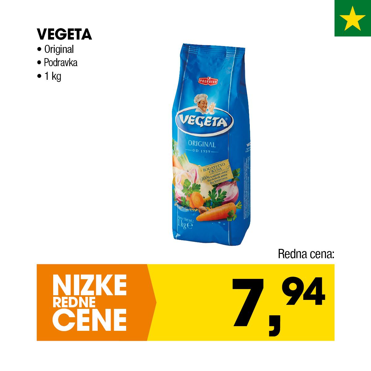 Nizke cene - Vegeta original Podravka 1kg