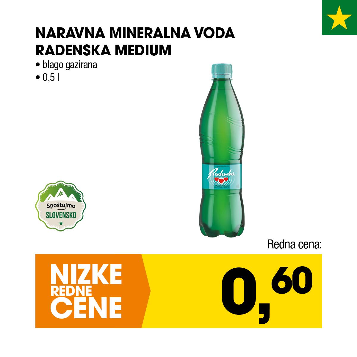 Nizke cene - Naravna mineralna voda Radenska medium