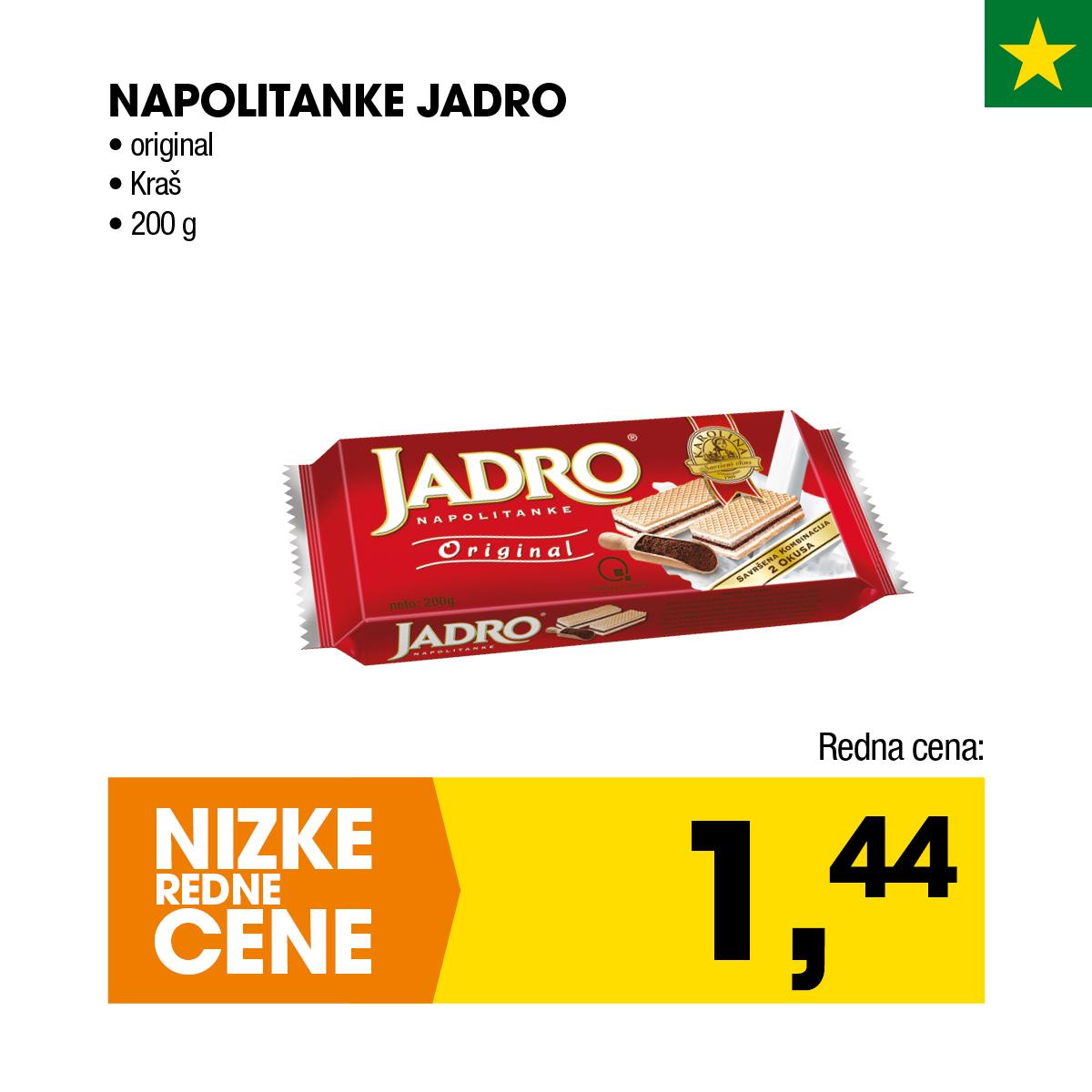 Nizke cene - Napolitanke Jadro