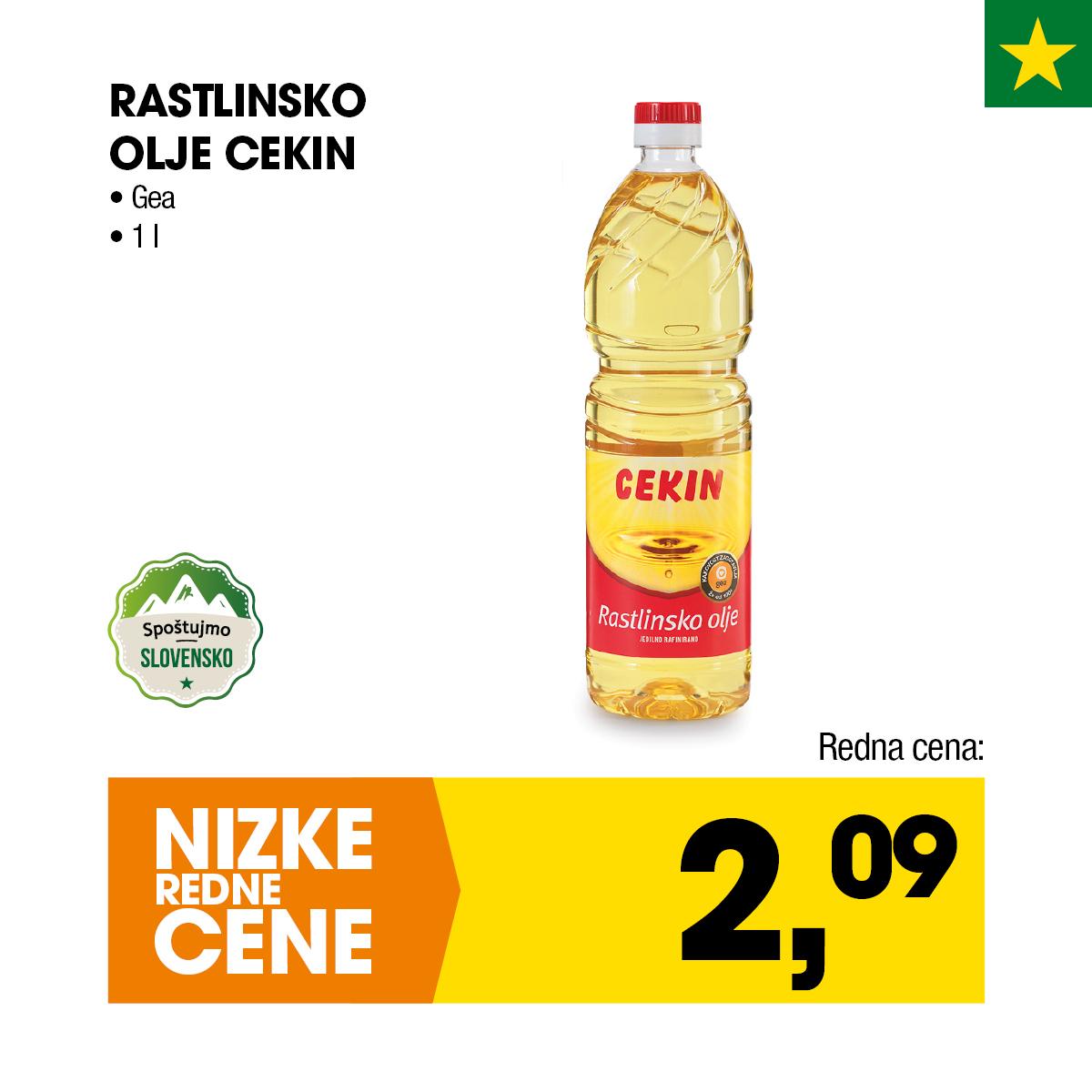 Nizke cene - Rastlinsko olje Cekin