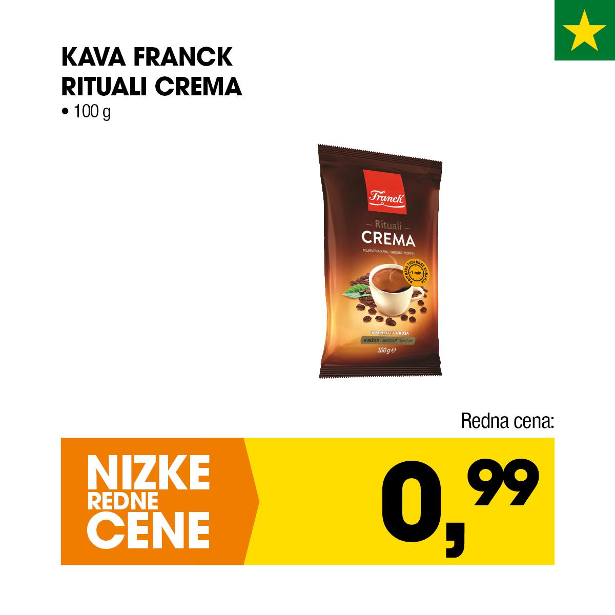 Nizke cene - Kava Franck Rituali Crema