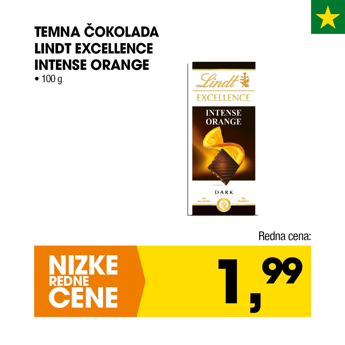 Nizke cene - Temna čokolada Lindt Excellence Intense Orange