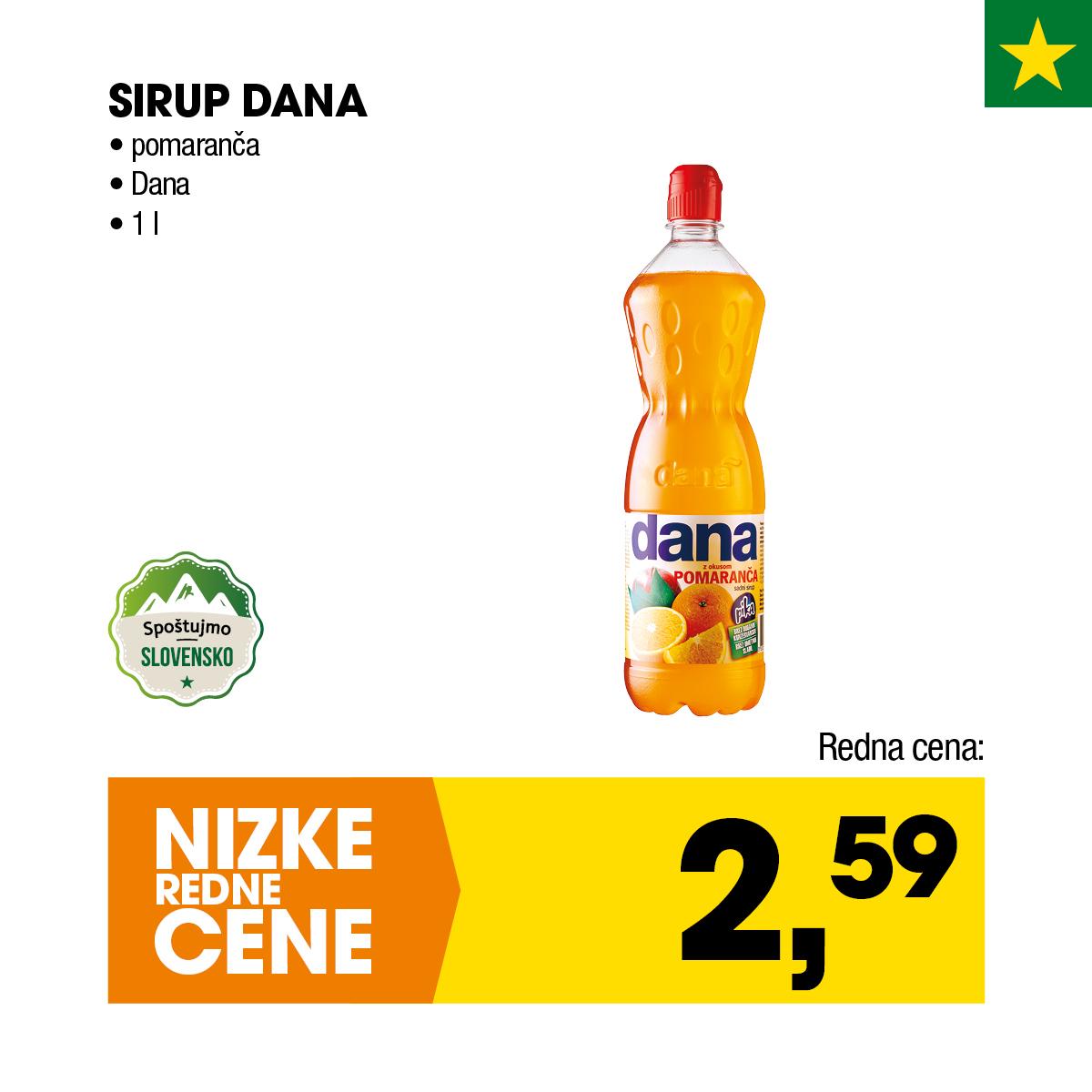 Nizke cene - Sirup Dana