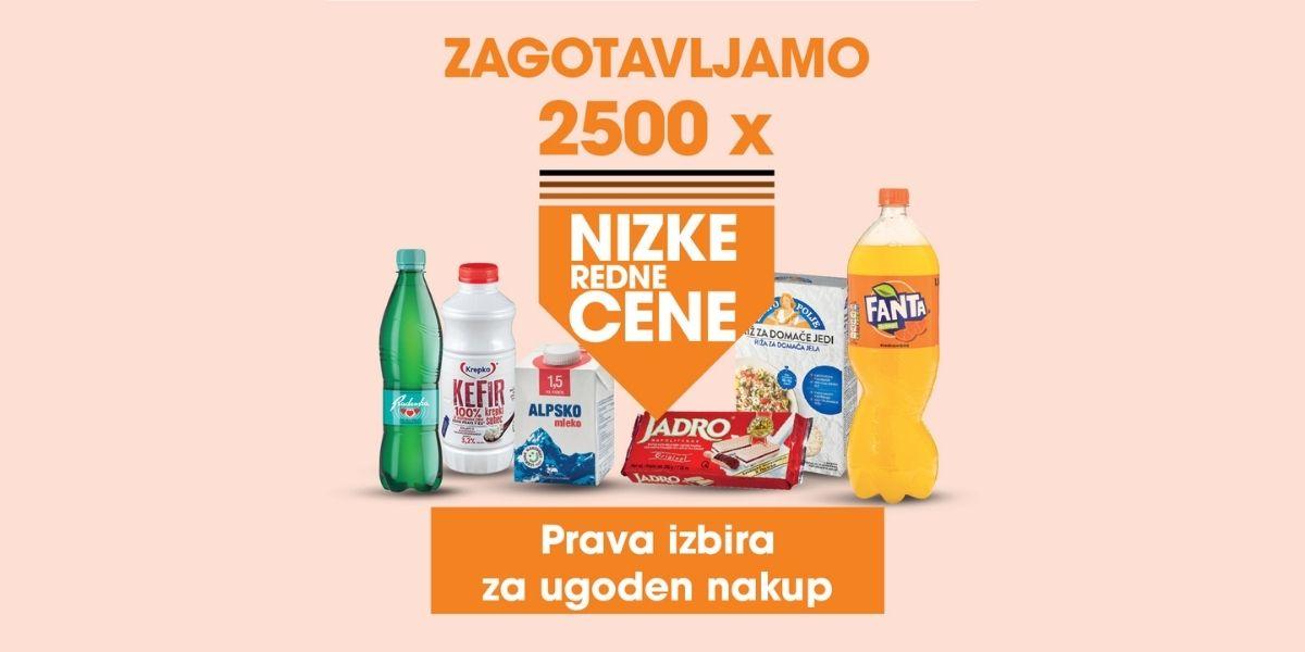 Nizke redne cene 2500 izdelkom