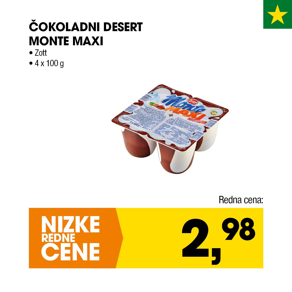 Zott čokoladni desert Monte Maxi