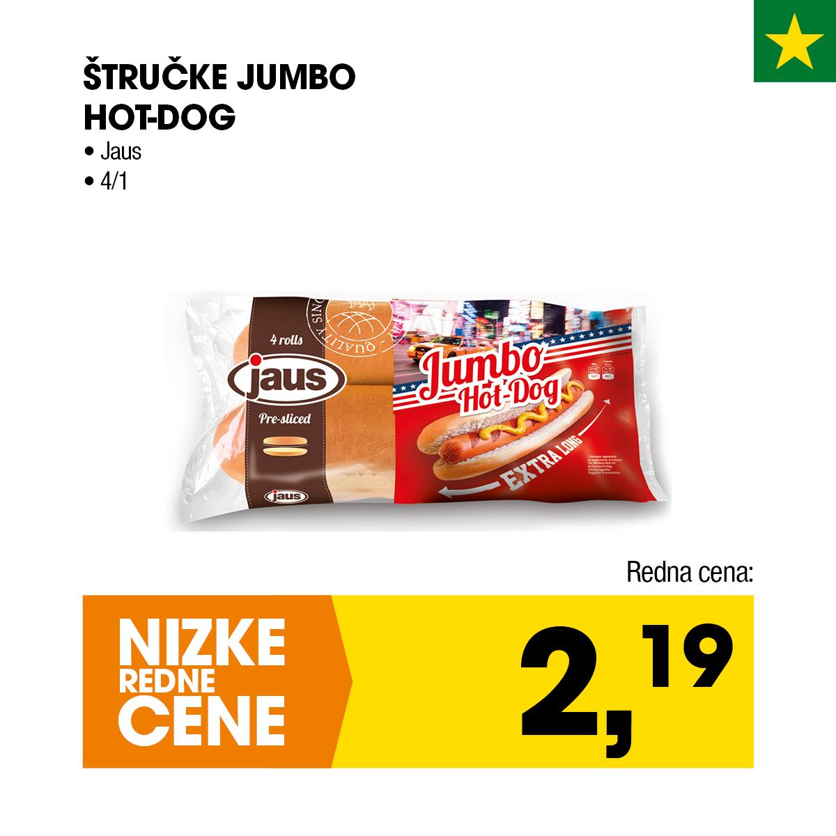 Štručke Jumbo Hot-Dog