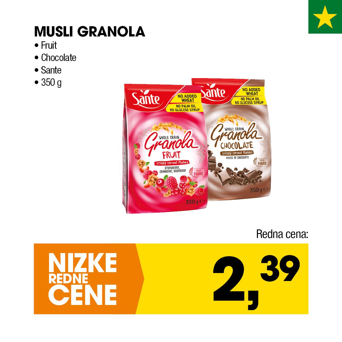 Fruit Chocolate Sante Musli Granola