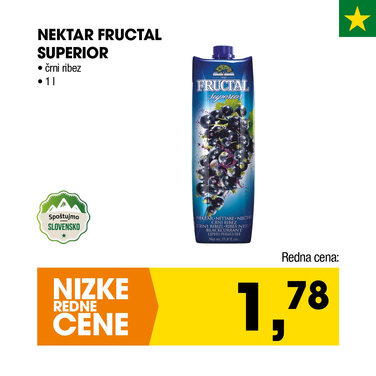Nektar Fructal Superior črni ribez