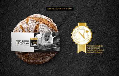Pirin kruh z drožmi Ana Roš & Tuš najbolj inovativen izdelek leta 2021