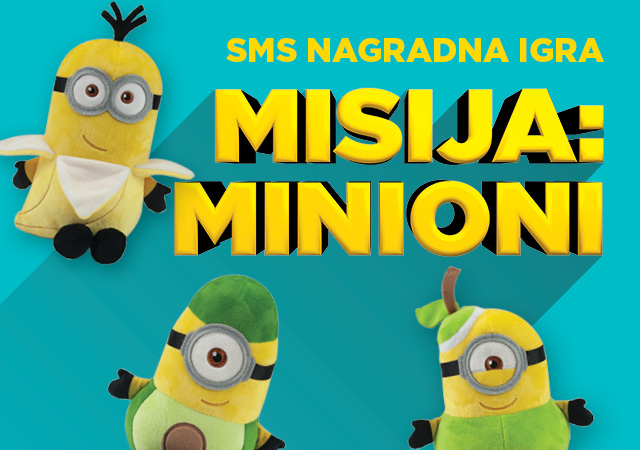 SMS nagradna igra Misija Minioni