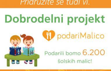 Dobrodelna akcija za projekt podari Malico