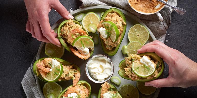 Avokado recepti, Avokadovi čolnički