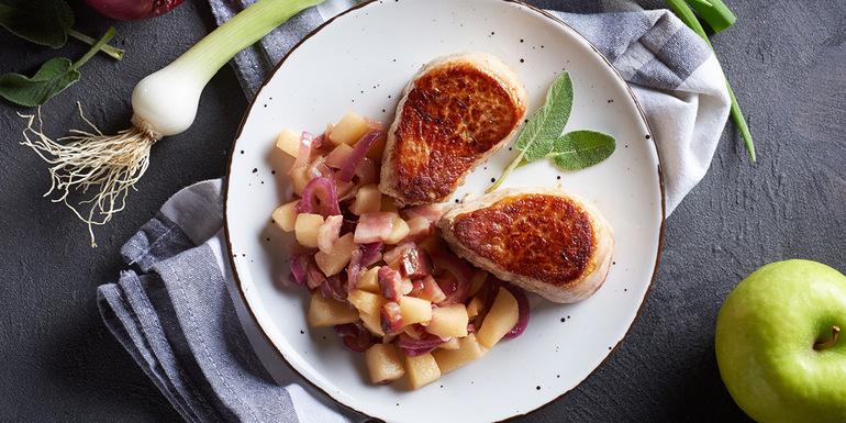Recept File svinjske ribice s sladko prilogo