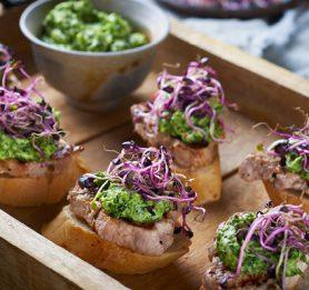 Piknik kruhki s svinjskim filejem