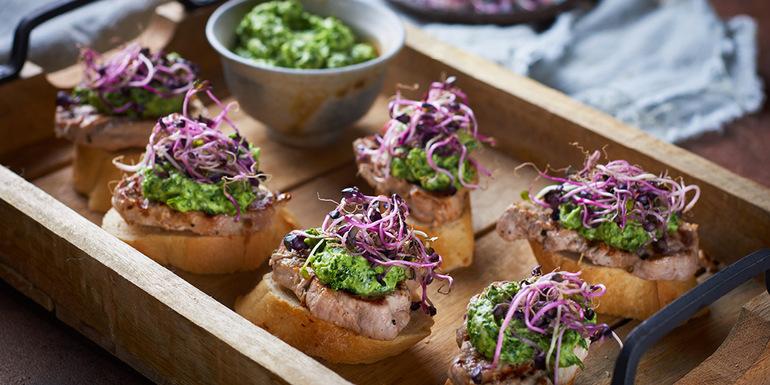 recept Piknik kruhki s svinjskim filejem