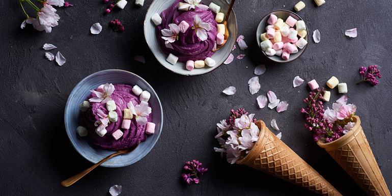 recept za Jasminov sladoled z borovnicami