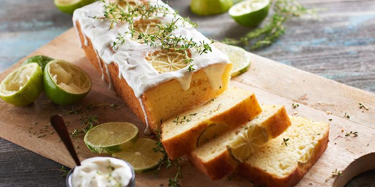 recept za kolač z limeto in timijanom, recepti za sladice