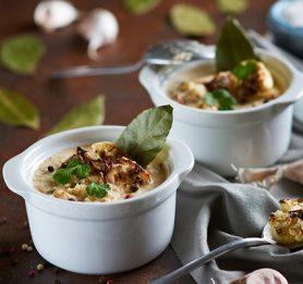 Kremna juha iz pečene cvetače