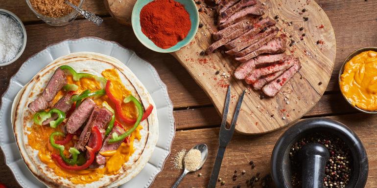 Recept: Steak na tortilji iz slovenske uležane govedine