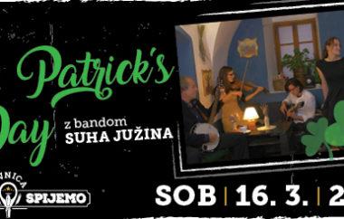 St. Patrick's day // Suha Južina band / sobota / 16.3. / ob 21h /