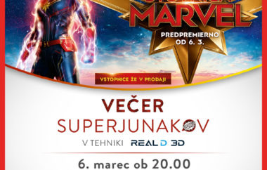 Večer superjunakov – Stotnica Marvel – Captain Marvel
