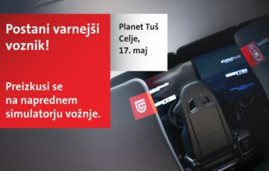 Simulator varne vožnje v Planetu Tuš Celje