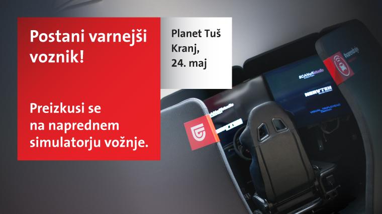 Simulator varne vožnje v Planetu Tuš Kranj