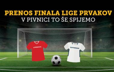 Prenos finala lige prvakov v Pivnici To še spijemo