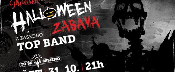 Pivniška Halloween zabava z zasedbo Top Band