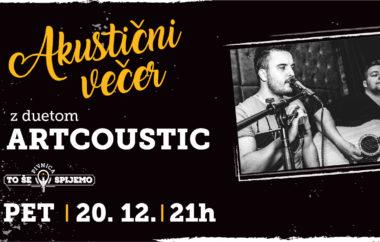 Akustični večer z duetom Artcoustic v Pivnici To še spijemo